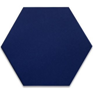 Hexagonal Ceramic Tile - Cobalt