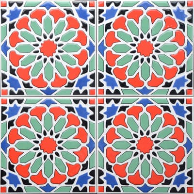 Corner: 95A-41-15 3D Andalusia Tile