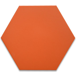 Hexagonal Ceramic Tile - Orange