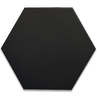 Hexagonal Ceramic Tile - Black