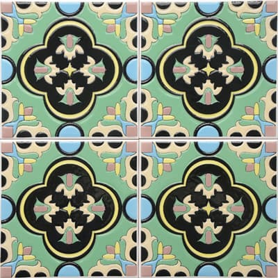 Corner: 95A-02-15 3D Andalusia Tile