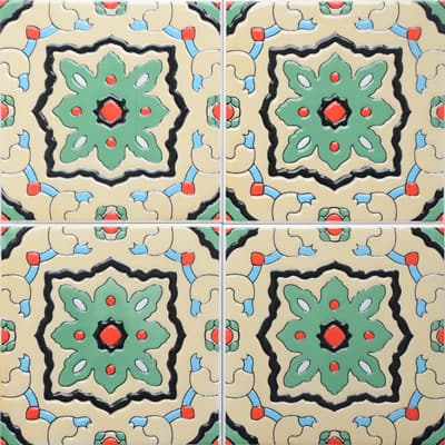 Corner: 95A-28-15 3D Andalusia Tile