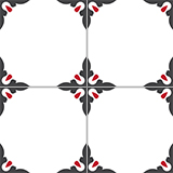 4370-20x20 cm Patterned Ceramic Tile