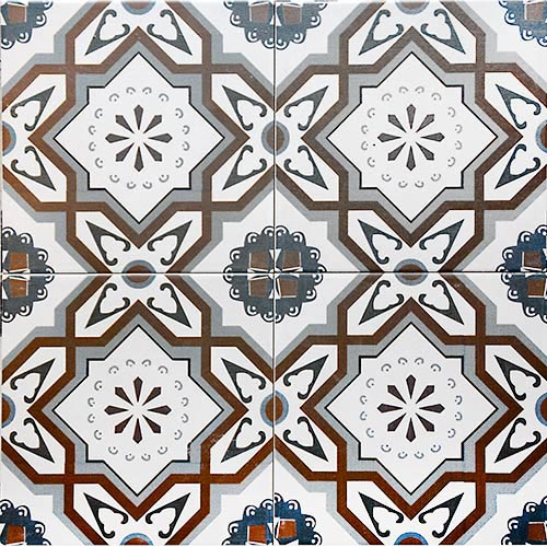 Tenerife 20x20 cm Patterned Ceramic Tile