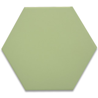 Hexagonal Ceramic Tile - Green