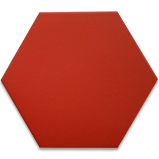 Hexagonal Ceramic Tile - Red