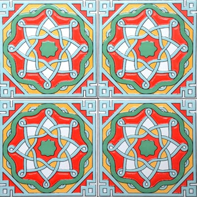 Corner: 95A-37-15 3D Andalusia Tile