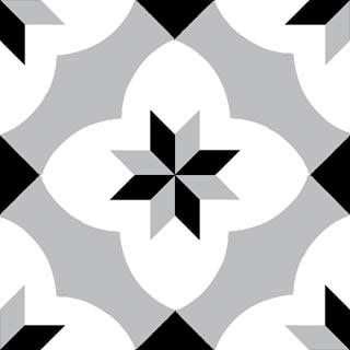 4040-20x20 cm Patterned Ceramic Tile