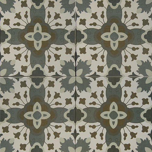 Malaga 20x20 cm Patterned Ceramic Tile