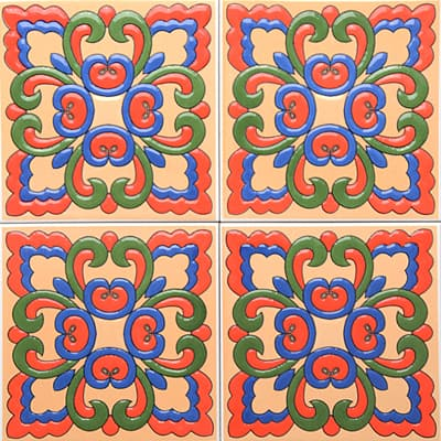 Corner: 95A-10-15 3D Andalusia Tile