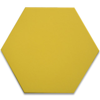 Hexagonal Ceramic Tile - Yellow