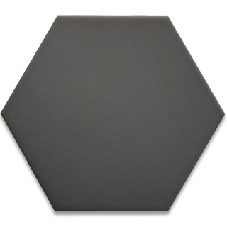Hexagonal Ceramic Tile - Dark Grey
