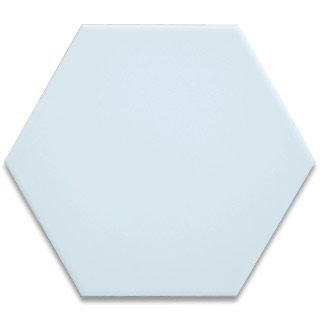 Hexagonal Ceramic Tile - Light Grey