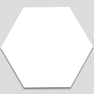 Hexagonal Ceramic Tile - White