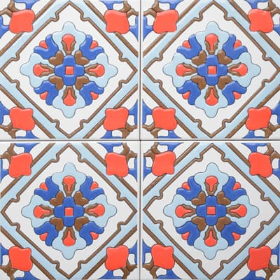 Corner: 95A-39-15 3D Andalusia Tile