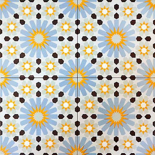 Tanger 20x20 cm Patterned Ceramic Tile